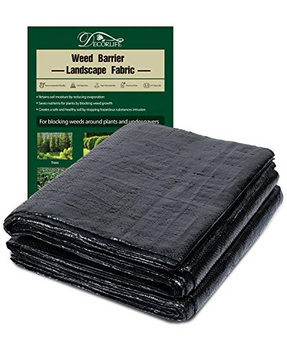 X Home 5ft x 30ft Weed Barrier Landscape Fabric, Landscaping Edging, Polypropylene Fabric Gardening Mat, 5oz Heavy Duty Needle Punched Ground Cover, Easy to Set Up and Cut