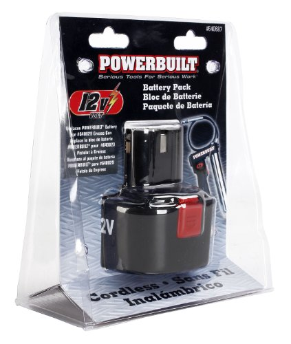 Powerbuilt 640687 12V Replacement Battery For Number 640029 Cordless Grease Gun