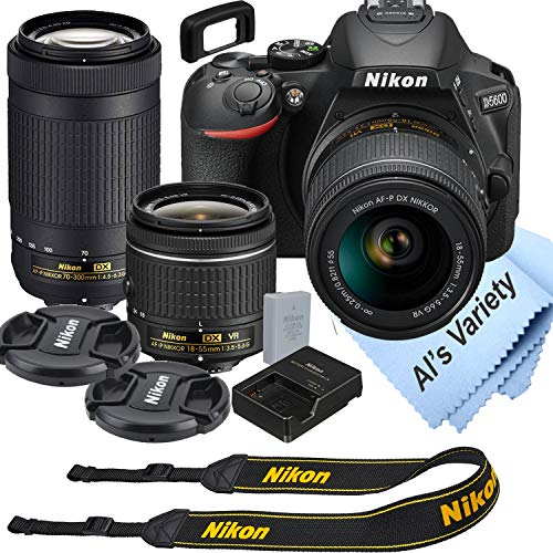 Nikon D5600 DSLR Camera Kit with 18-55mm VR + 70-300mm Zoom Lenses | Built-in Wi-Fi | 24.2 MP CMOS Sensor | EXPEED 4 Image Processor and Full HD 1080p | SnapBridge Bluetooth Connectivity