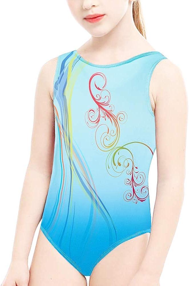 Gymnastics Leotards for Girls with Shorts Toddler Girls Gymnastics Apparel Dance Unitards Biketards Sleeveless