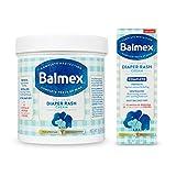 Balmex Complete Zinc Oxide Protection Diaper Rash Cream, 16 Oz & 4 Oz Bundle, 2Count