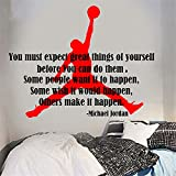 wandaufkleber 3d schlafzimmer Wall Sticker Quote You Must Expect Great Things Of Yourself Michael Jordan Inspiration Quote Wall Sticker Motivation Decal Living Kids Room Vinyl