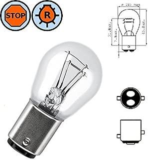 BULB 6V 21/5W BAY15D STOP TAIL BRAKE LIGHT LAMP REAR INDICATOR CAR AUTO EXTERIOR TURN SIGNAL OFFSET PIN MOTORCYCLE MOPED TRANSPARENT