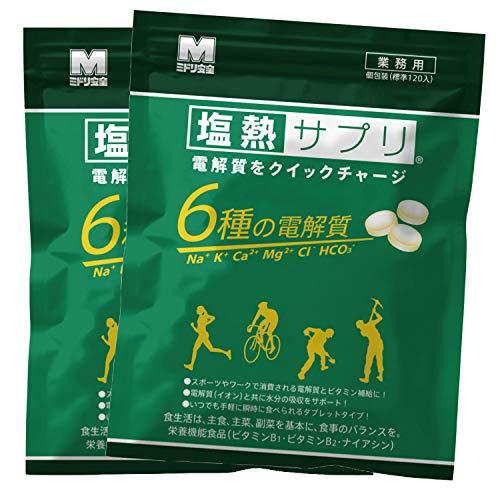 ミドリ安全 塩熱サプリ レモン味 業務用 個別包装 168g(約120粒入) 2袋セット