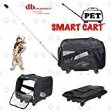 dbest products Pet Smart Cart, Medium, Black, Rolling Carrier with wheels soft sided collapsible Folding Travel Bag, Dog Cat Airline Approved Tote Luggage backpack