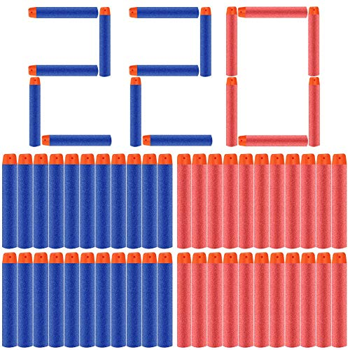 POKONBOY Bullets Compatible with Nerf Darts - 220 Pack Refill Bullet Darts Fit for Nerf Guns N-Strike Elite Series Gun Toys for Boys