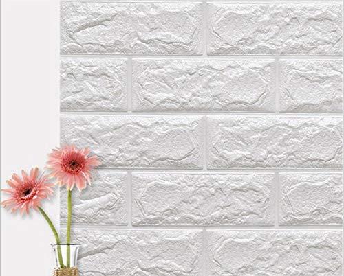 Liike Sticker Sticker s Muraux 3D Chambre Décor Foam Brique Décor Papier Peint Living Sticker Mural pour Chambre des Enfants, Blanc