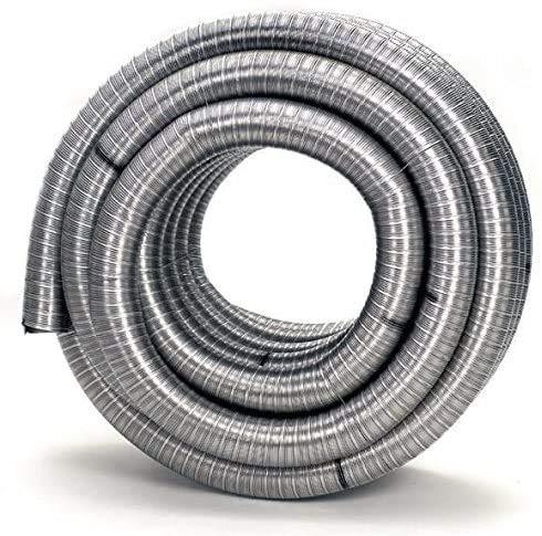 flexibles Edelstahlrohr Ofenrohr Rauchrohr Schornstein Ø 120 mm - Meterware