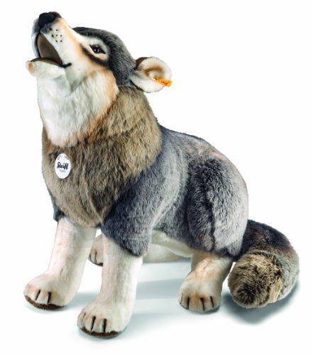 Steiff Snorry Schlenker Wolf - 60 cm - Kuscheltier für Kinder - Plüschtier - weich - grau (075759)