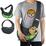 GHIFANT Sling Bag Carrier for Pets Cats Dogs Rabbits Front Pocket Travel Safe Breathable Mesh Washable Pet Carrier with Adjustable Strap