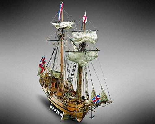 "Mamoli MV37 Halifax - Wood Plank-On-Bulkhead Ship Model Kit - Scale 1/54 - Length 590 mm (24"") -  MV 37"