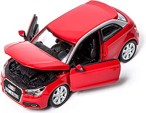 Bburago - Audi A1 (18-22127), Rojo / Azul , Modelos/colores