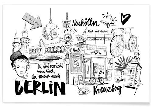 "JUNIQE® Reise Berlin Poster 60x90cm - Design ""Berlin 1"" entworfen von Ekaterina Koroleva"