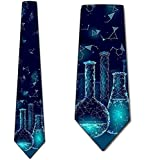 Cravate De Cravate D'Hommes,Cravate De Chimie Cravates De Béchers De La Science Des Hommes,Neck Tie,145Cm