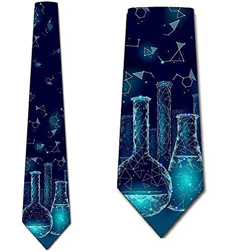Corbata De Los Hombres Corbata,Corbatas De La Química Corbata De Los Cubiletes De La Ciencia De Los Hombres,Neck Tie,Largo 145 Cm