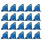 ERUYN 20 Unids/Set Hogar para Empaque de Piso de Madera de Vinilo Fácil Instalación Herramientas Reutilizables Profesionales de Madera Dura Forma Laminado Azul