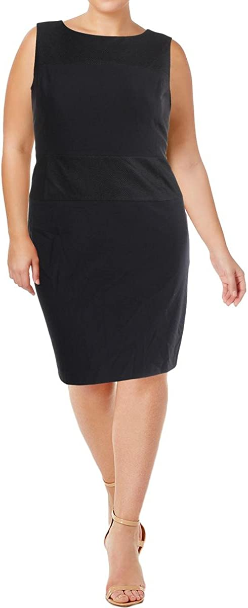 NINE WEST Women's Solid Backing Ranking TOP7 W Mesh Manufacturer regenerated product Dress