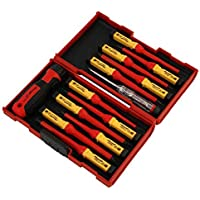 Neilsen VDE SCREWDRIVER SET INSULATED 1000V SECURITY FLAT PH PZ STAR CHANGE ROBUST CASE
