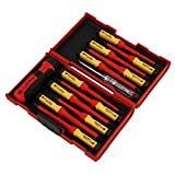 VDE SCREWDRIVER SET INSULATED 1000V SECURITY FLAT PH PZ STAR CHANGE ROBUST CASE by Neilsen
