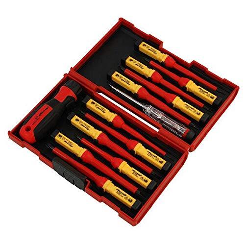 Neilsen CT3794- Set di cacciaviti isolati da 1000V, certificazione VDE, colore:rosso