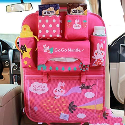 BTSEW Backseat Organizer,IPAD Special Pocket Kick Mat Protector,Oxford Cloth Material Cartoon Children's Storage Bag,1