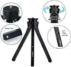 ADAI Aluminum Alloy Mini Tripod Tabletop Tripod for Camera/DSLR Camera, Lightweight and Portable Tripod Mini Tripod for Phone/Projection/Zhiyun Stabilizer Camera/Gopro (Black)
