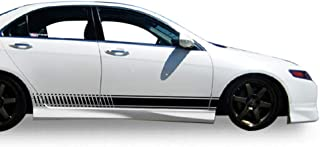 Bubbles Designs Set of Racing Side Stripes Decal Sticker Graphic Compatible with Honda Accord Type R CL7 2002-2007