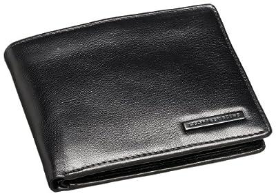 Geoffrey Beene Men's Leather Passcase Billfold Wallet,Black,