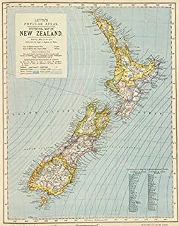 Imagekind Wall Art Print Entitled Vintage Map of New Zealand (1883) by Alleycatshirts @Zazzle | 11 x 14