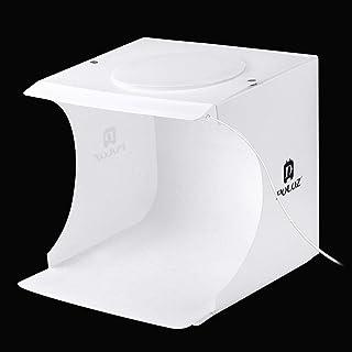 PULUZ 20cm Folding Portable 550LM Light Photo Lighting Studio Shooting Tent Box Kit with 6 Colors Backdrops (Black, White,...