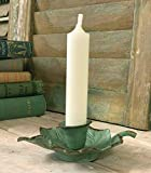 Homes on Trend Tapered Candlestick Holder Candle Festive Leaf Vintage Style Green
