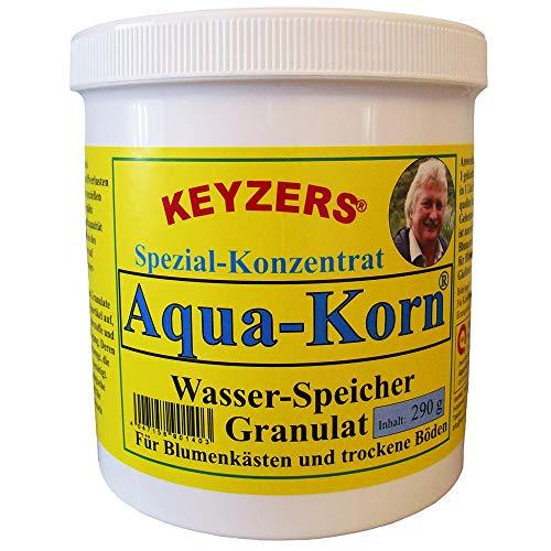 Keyzers Aqua-Korn 290g - Wasserspeicher Granulat für Blumenkästen und trockene Böden