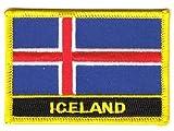 Flaggen Aufnäher Patch Island Schrift Fahne NEU