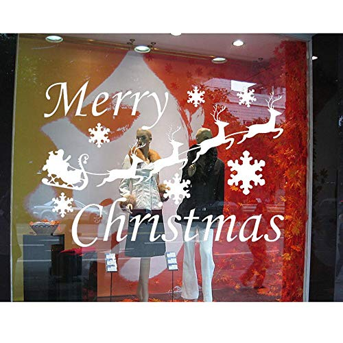 yaofale Cricket Wandaufkleber Indien Weihnachten Weihnachten Hirsch Schnee Jungen Und Mädchen Zimmer Wanddekoration DIY Vinyl Wandaufkleber 132x76 cm