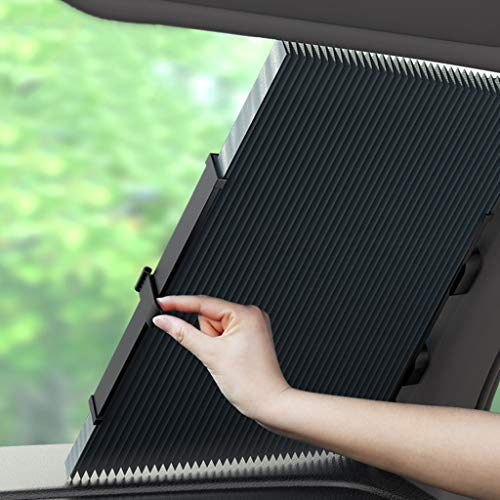 Vouw Car Zonnescherm, Auto-scaling Zon en warmte-isolatie Quick Installation verduisteringsgordijnen Car Rolgordijn Zonneschermen (Size : 70cm)