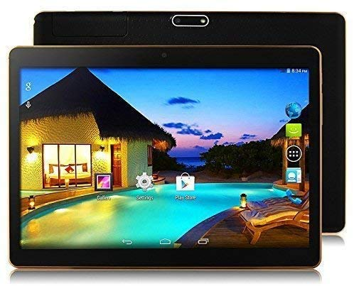 10.1 Inch Phablet Octa Core 64GB ROM 4GB RAM Call Phone Android 8.1 Tablet PC, Dual Sim Card,Support Netflix YouTube Bluetooth, GPS, WiFi WJQ-107 (Matte Black)