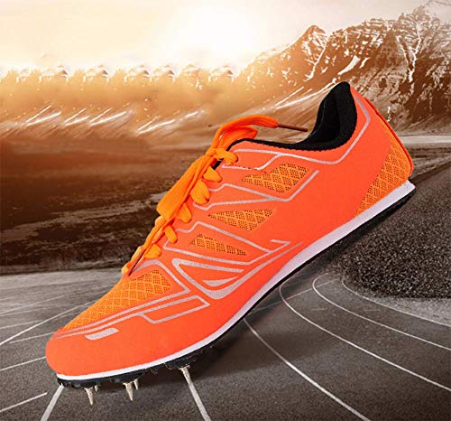 YFJL Men's Track and Field Shoe Spike Shoe Sprint Sports 100 Meters Competition Special Track Shoes Spikes Mens Womens Distance Running,B,34