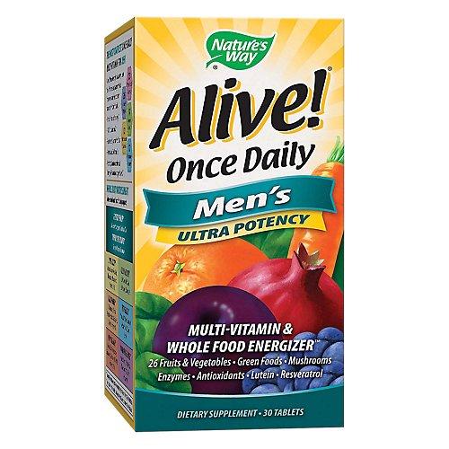 Nature's Way Alive! Men's Ultra Potency Complete Multivitamin, High Potency B-Vitamins, 60 Tablets