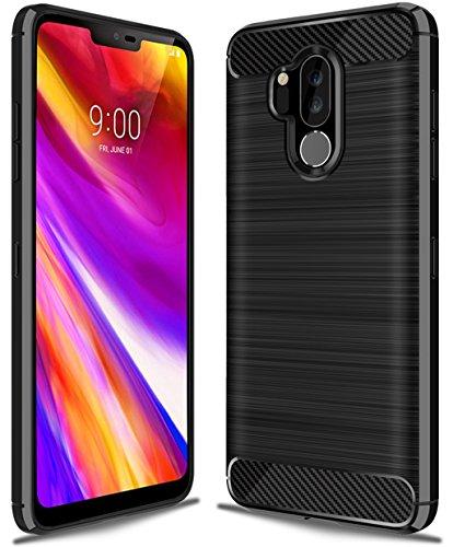 LG G7 ThinQ case,LG G7 Fit Case,LG G7 One Case,LG G7 Case, Sucnakp TPU Shock Absorption Technology Raised Bezels Protective Case Cover for LG G7 Smartphone (Black)