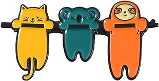 Carino Divertente Sloth Spillette Pigro Animale Spilla Distintivo perni del Risvolto Denim Jeans Gioielli Bag Camicia