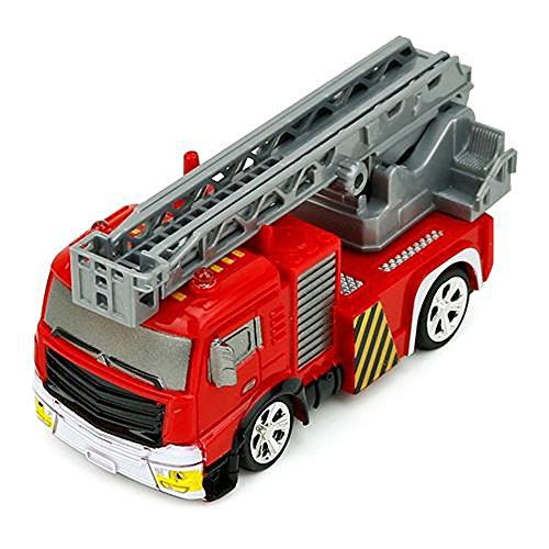 RC Auto kaufen Feuerwehr Bild 6: Brigamo Mini RC Feuerwehrauto mit Blaulicht, Ferngesteuertes Auto im Deko Feuerlöscher, Feuerwehr Leiterwagen, ideales Geschenk für Feuerwehr Fans (40 Mhz)*