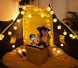 CozyHome LED Lampion Lichterkette außen mit Timer - 7 Meter   Mit Netzstecker NICHT batterie-betrieben   auch für Innen   20 LEDs warm-weiß   Kein lästiges austauschen der Batterien   LED Lampions - 7