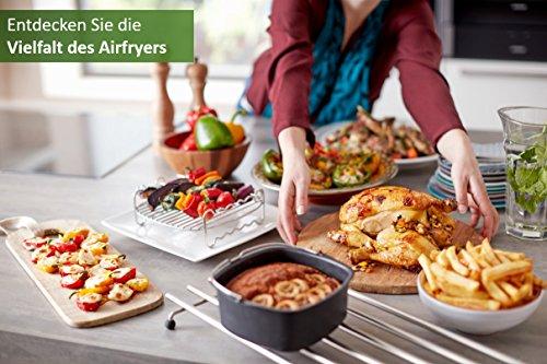 Philips HD9652/90 Airfryer XXL (2225 W, Heißluftfritteuse, für 4-5 Personen, 1400g, digitales Display) schwarz - 7