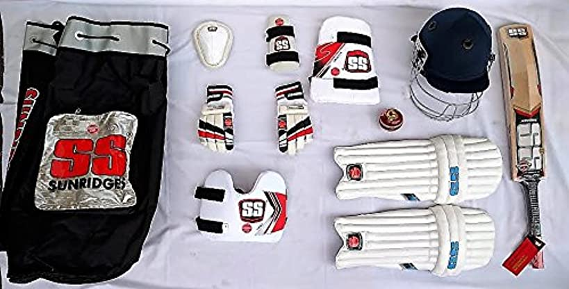 SS KASHMIR WILLOW Complete Batsman Cricket Kit For Begginers/Youth