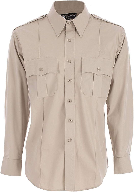 Tact free Squad Men's Polyester Cotton Large Tan Shirt Sleeve Ranking TOP20 Long