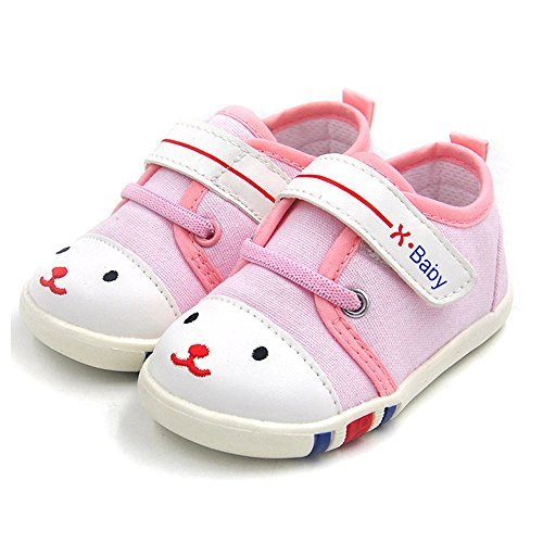 HLMBB Baby Walking Shoes for Infant Newborn Girl Girls Boy Boys Kids Babies Toddler Tennis Running Leather Crib New Wide Velcro Lace Walker Shoes Sneakers Flats( 4.5 WW US 6-9 monthsToddler