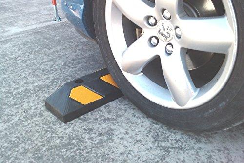 Einzel Gummi Parkplatzbegrenzung für Parkplätze und Garagen 55x15x10cm - 7