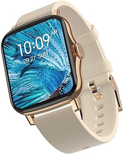 Panduo YLB - Reloj inteligente para exteriores, resistente al agua, 1 de 69 pulgadas, varios rastreadores de actividad deportiva, funciones de monitoreo del sueño (color: oro)