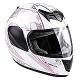 Typhoon Youth Full Face Motorcycle Helmet Kids DOT Street - White Pink Butterfly...