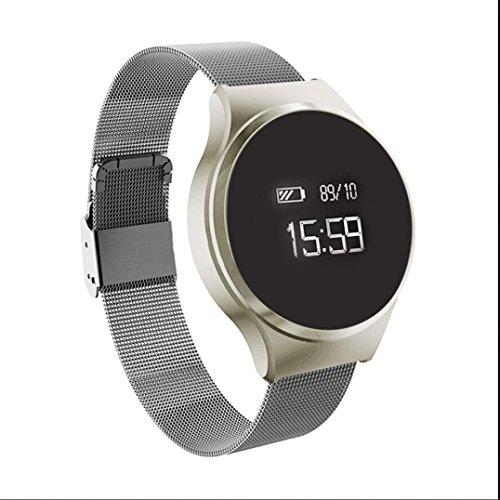 Orologio Fitness Activity Tracker Cardiofrequenzimetro da Polso con Podometro Bracciale Bluetooth con Monitor del Sonno /Sedentario allarme con Pressione Arteriosa/Ossimetro e Cardiofrequenzimetro Per iPhone ios/Android